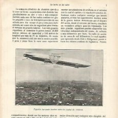 Coleccionismo: LAMINA 13702: ZEPPELIN LANZANDO BOMBAS EN AMBERES. Lote 160300718