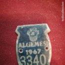 Coleccionismo: ALGEMESÍ (VALENCIA) PLACA DE BICICLETAS. Lote 160581042
