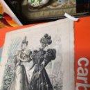 Coleccionismo: ANTIGUA LAMINA LA MODA ELEGANTE ILUSTRADA, Nº 11, 22 DE MARZO DE 1896. Lote 160722926