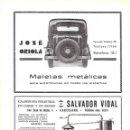Coleccionismo: AÑO 1934-35 PUBLICIDAD JOSE ORIOLA MALETAS METALICAS PARA AUTOMOVILES BARCELONA. Lote 160742730