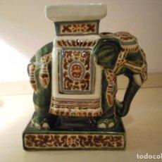 Coleccionismo: ELEFANTE GRANDE DE CERÁMICA ESMALTADA. Lote 160784886