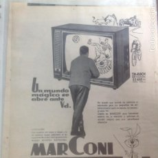 Coleccionismo - Antiguo recorte de prensa original. TELEVISOR MARCONI TM8301 - 160807962