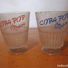 Coleccionismo: VINTAGE 2 COPAS PLASTICO COPA POP HELADOS MARISA. Lote 160817210