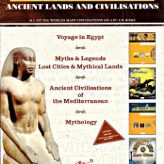 Coleccionismo: ANCIENT LANDS AND CIVILISATIONS. VOYAGE IN EGYPT (4 CD-ROM). Lote 160990446