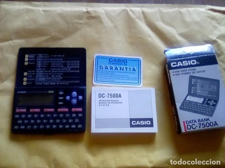 VESIV CALCULADORA CASIO DATA BANK DC 7500 A FUNCIONA (Coleccionismo - Varios)