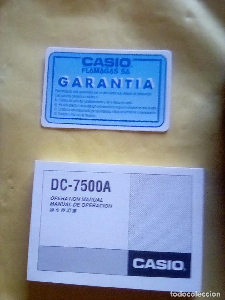 Coleccionismo: VESIV CALCULADORA CASIO DATA BANK DC 7500 A FUNCIONA - Foto 4 - 161037030