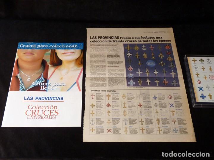 Coleccionismo: COLECCIÓN 30 CRUCES UNIVERSALES BAÑADAS EN ORO Y PLATA. LAS PROVINCIAS, 2003. COMPLETA CON ESTUCHE - Foto 8 - 161327902