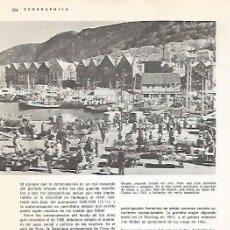 Coleccionismo: LAMINA 11042: PUERTO DE BERGEN NORUEGA. Lote 137634069