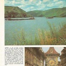 Coleccionismo - LAMINA 11047: Valle del Rhin y Torre del Reloj de Berna Suiza - 137634444