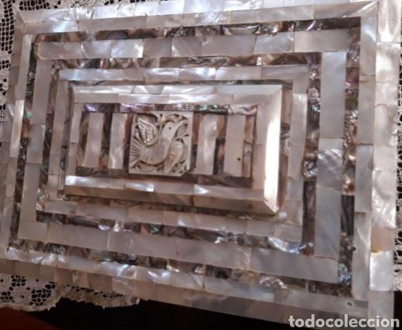 Coleccionismo: Caja joyero madreperla - Foto 3 - 161512913