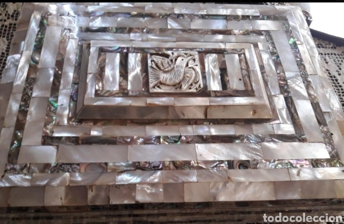 Coleccionismo: Caja joyero madreperla - Foto 4 - 161512913