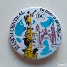 Coleccionismo: CHAPA PIN IMPERDIBLE - BANCO CENTRAL - SU BANCO AMIGO. Lote 161530498