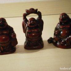 Coleccionismo: LOTE DE 3 FIGURITAS BUDAS DE LA SUERTE EN RESINA. Lote 161541882