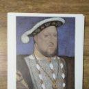 Coleccionismo: MFF.- LAMINA: HANS HOLBEIN EL JOVEN. RETRATO DE ENRIQUE VIII, 1534-1536.- MEDIDAS 29'3 X 22'9 CMTS.. Lote 161569746