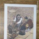 Coleccionismo: MFF.- LAMINA: ZAPATERO DE VIEJO. FRANCISCO DE SANCHA Y LENGO. (1874- 1937).- 28'9 X 21'9 CMTS.-. Lote 161685142