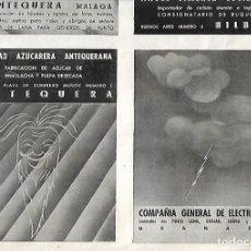 Coleccionismo: AÑO 1938 GUERRA CIVIL PUBLICIDAD SOCIEDAD AZUCARERA ANTEQUERANA ANTEQUERA . Lote 161693998