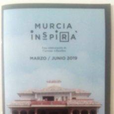 Coleccionismo: FOLLETO GRAPADO MURCIA INSPIRA - PROGRAMACION MARZO-JUNIO 2019 - CERVEZAS AHAMBRA. Lote 161870950