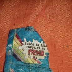 Coleccionismo: ANTIGUO ENVOLTORIO CHICLE CHICLES PREMIO THUNDER AÑOS 80.VACIO. Lote 161873594