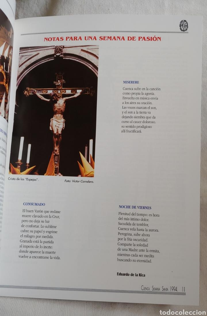 Coleccionismo: Cuenca Semana Santa 1994 Libro programa - Foto 3 - 161919028