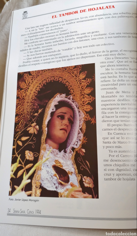 Coleccionismo: Cuenca Semana Santa 1994 Libro programa - Foto 2 - 161919028