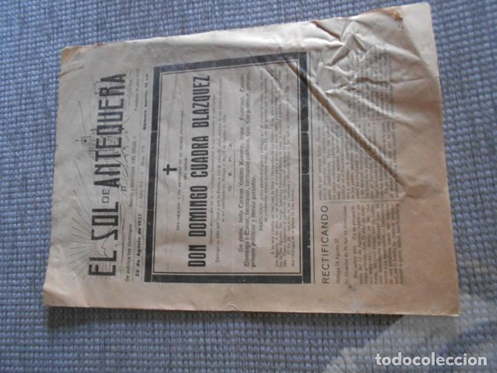 PERIODICO DE ANTEQUERA GUERRA CIVIL 1937 (Coleccionismo - Laminas, Programas y Otros Documentos)