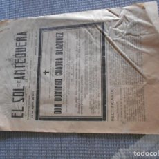 Coleccionismo: PERIODICO DE ANTEQUERA GUERRA CIVIL 1937. Lote 161938054