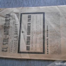 Coleccionismo: PERIODICO GUERRA CIVIL DE ANTEQUERA 1937. Lote 161938142