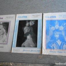 Coleccionismo: REVISTAS DE SEMANA SANTA DE ANTEQUERA 1970-72-73. Lote 161938890