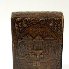 Coleccionismo: PITILLERA CUERO REPUJADO. ALHAMBRA DE GRANADA, ANTIGUA.. Lote 162098970