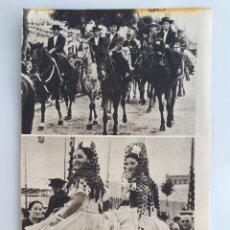 Coleccionismo: AMAZONAS EN LA FERIA DE SEVILLA / FERIA DE ABRIL EN SEVILLA / BAILANDO SEVILLANAS. 1952. Lote 162570744