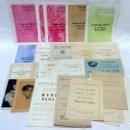 Coleccionismo: GRAN LOTE DE PROGRAMAS DE CONCIERTOS PALAU DE LA MUSICA CATALANA. DESDE 1920 A 1959.. Lote 162704994