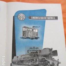 Coleccionismo: PUBLICIDAD 1954 - COLECCION FERROCARRIL - LA MAQUINISTA TERRESTRE Y MARITIMA - RENFE. Lote 162780950