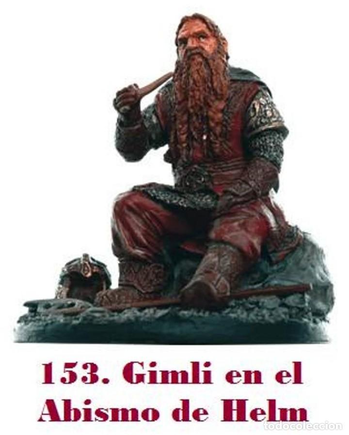 FIGURA DE PLOMO EL SEÑOR DE LOS ANILLOS INÉDITA EN ESPAÑA Nº153 GIMLI SIN CAJA (Coleccionismo - Varios)