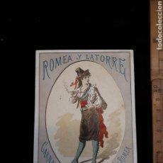 Coleccionismo: SOCIEDADES ROMEA Y LATORRE TEATRO ROMEA PROGRAMA CARNAVAL 1887. Lote 162909960