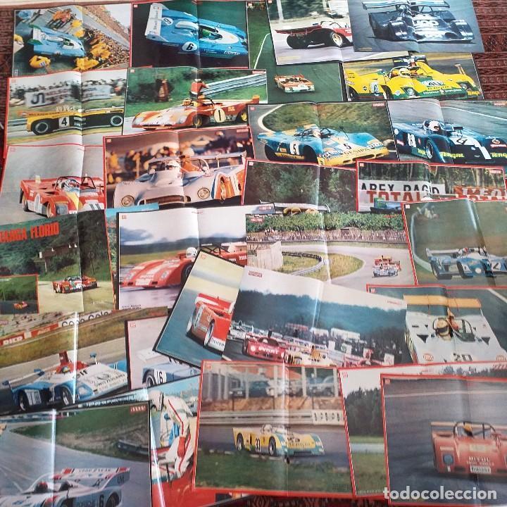 28 PRECIOSOS PÓSTERS VINTAGE REVISTA AUTOPISTA. 1972-75. BARQUETAS. (Coleccionismo - Varios)