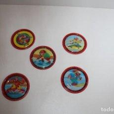 Coleccionismo: LOTE 5 RAMPPERS MAGIC BOX DE METAL- PEDIDO MINIMO 5€. Lote 163406834