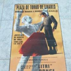 Coleccionismo: CARTEL PLAZA DE TOROS DE LINARES 1997. Lote 163459648