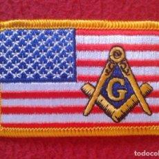 Coleccionismo: PARCHE PATCH MASONERÍA MASÓN MASONES MASONIC MASÓNICO BANDERA ESTADOS UNIDOS USA FLAG LOGIA LODGE G. Lote 163765878