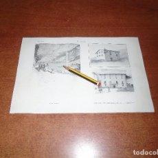 Coleccionismo: ANTIGUA LÁMINA 1908: ANDORRA. PLAZA MAYOR. CASA-PALACIO DEL CONSEJO GENERAL. CRUZ CAMINAL.. Lote 163798414