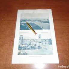 Coleccionismo - ANTIGUA LÁMINA 1908: AREQUIPA. VISTA GENERAL. CATEDRAL. - 163799530