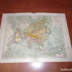 Coleccionismo: ANTIGUA LÁMINA 1908: MAPA DE ASIA. . Lote 163799854