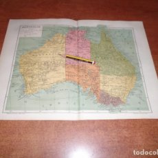 Coleccionismo - ANTIGUA LÁMINA 1908: MAPA DE AUSTRALIA - 163800358