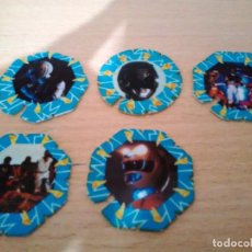 Coleccionismo: 5 TAZOS POWER RANGERS LA PELÍCULA - 1995 APERITIVOS CHICLE CHEETOS MATUTANO. Lote 163995566