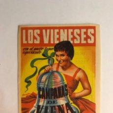 Coleccionismo: TEATRO RUZAFA (VALENCIA) LOS VIENESES. CAMPANAS DE VIENA. FOLLETO DE MANO (A.1957). Lote 164003549