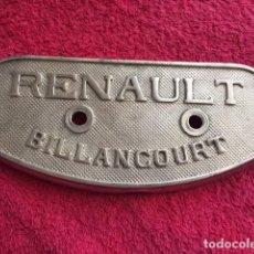 Coleccionismo: ANTIGUA TAPA DE MOTOR RENAULT 1910. Lote 164175218