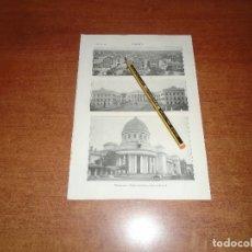 Coleccionismo: ANTIGUA LÁMINA 1908: CALCUTA. VISTA GENERAL. PALACIO DEL VIRREY. CASA DE CORREOS.. Lote 164339286