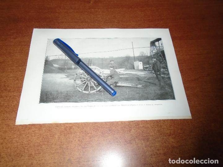 Coleccionismo: ANTIGUA LÁMINA 1908 CAÑÓN. DE CAMPAÑA 7,62 C/M. DE CAMPAÑA CON CAJA DE MUNICIONES. SISTEMA KRUPP 7/5 - Foto 2 - 164341490
