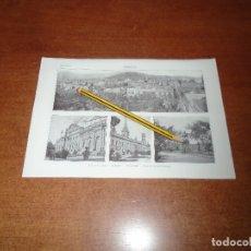 Coleccionismo - ANTIGUA LÁMINA 1908 CARACAS. VISTA CIUDAD. CAPITOLIO. UNIVERSIDAD. PASEO DE LA INDEPENDENCIA. - 164341830
