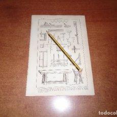 Coleccionismo - ANTIGUA LÁMINA 1908 CARPINTERÍA. HERRAMIENTAS. - 164342858