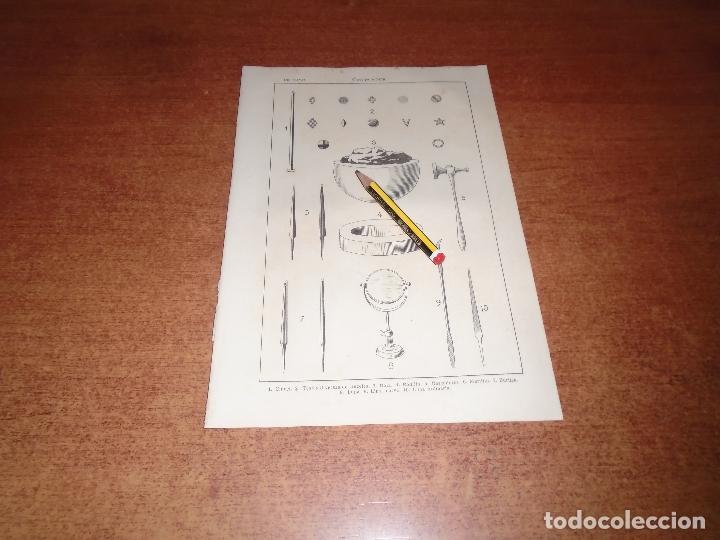 ANTIGUA LÁMINA 1908: CINCELADOR. HERRAMIENTAS. (Coleccionismo - Laminas, Programas y Otros Documentos)